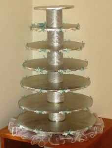 Handmade wedding cake tier